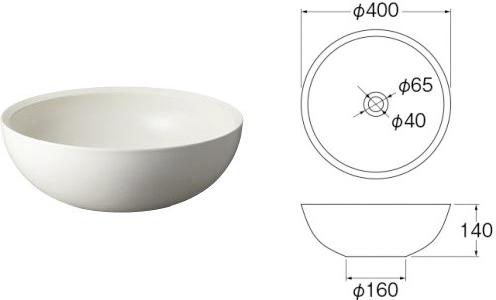 洗面器の例:HW1052-W